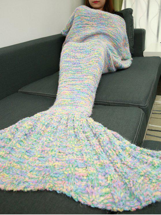نوعية جيدة محبوك أريكة السرير حورية البحر الذيل بطانية - الضوء الأزرق