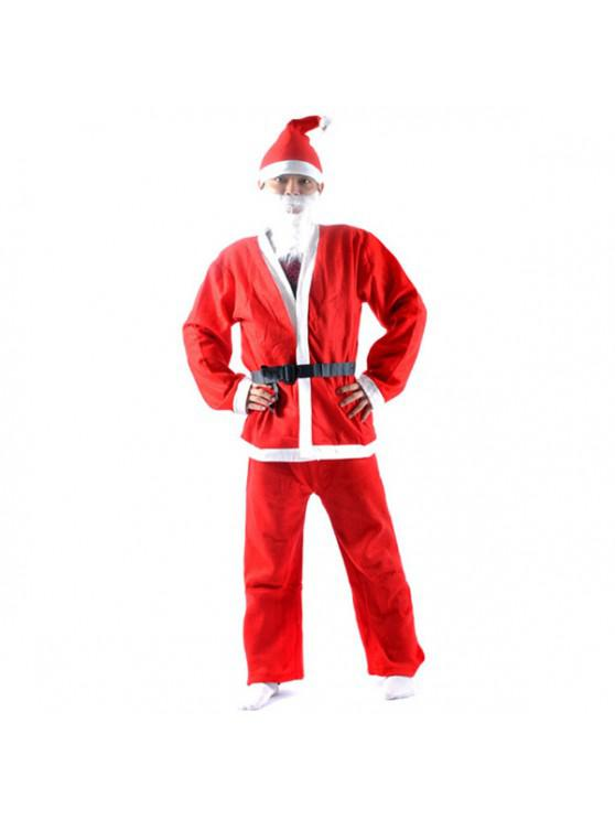 High Quality Christmas Santa Claus Set Costume - สีแดง