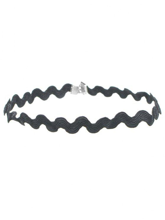 shops Wave Shape Choker - BLACK