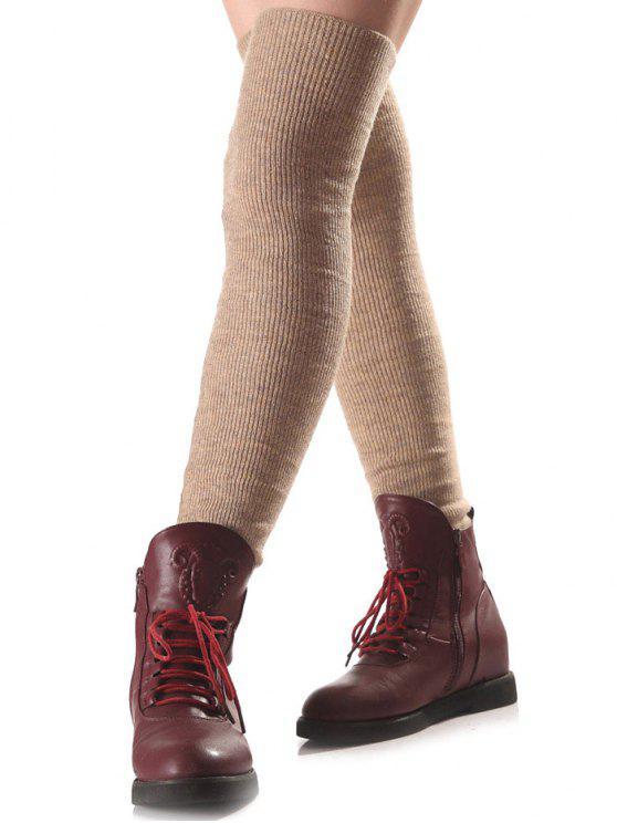Jambières  Longues chauffantes en tricot - Teint