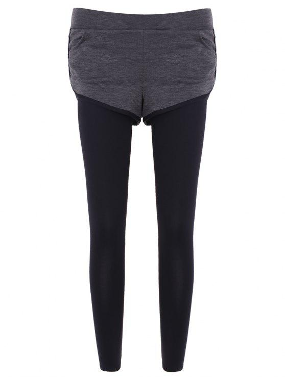 Pockets slim Leggings twinset falsificados - Cinzento L