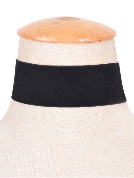 Velvet Large Collier Choker - Noir