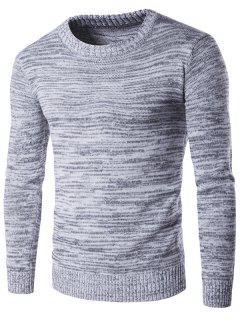 Espacio De Cuello Redondo Suéter Teñido - Gris L