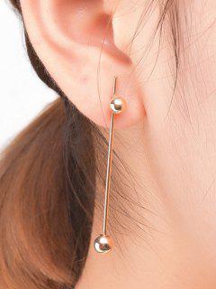 Minimalist Ball Earrings - Golden