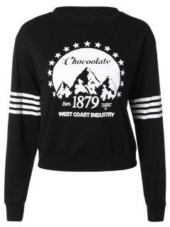 Deportes Suelta La Camiseta Impresa - Negro L