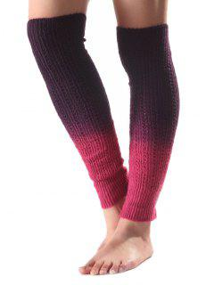 Ombre Knit Leg Warmers - Purple