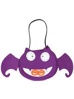 Bat Shaped Halloween Bag - Purple
