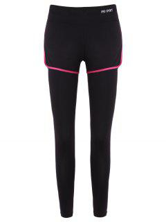 Slim Bord Couvert Leggings Fake Twinset - Rose S