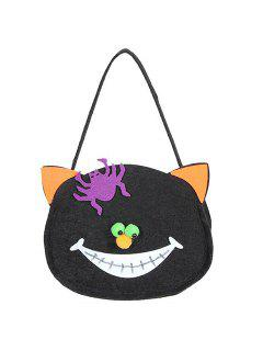 Cat Shaped Halloween Bag - Black