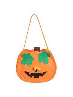Pumpkin Shaped Halloween Bag - Orange