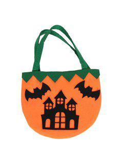 Color Block Castle Pattern Halloween Bag - Black