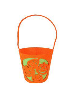 Halloween Bucket Shaped Pumpkin Handbag - Orange