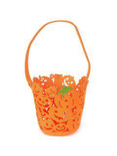 Halloween Cut Out Pumpkin Bag - Orange