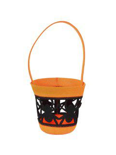 Cut Out Spider Halloween Tote Bag - Orange