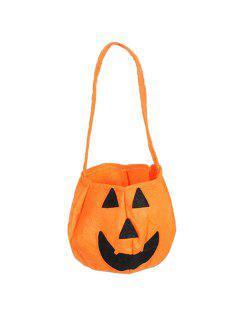 Calabaza De Halloween En Forma De Bolsa - Naranja