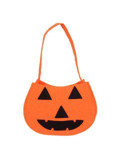 Pumpkin Halloween Bag - Orange
