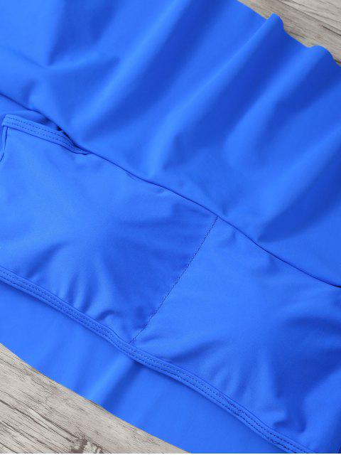 sale Ruffles Off Shoulder Bikini Swimwear - SAPPHIRE BLUE M Mobile
