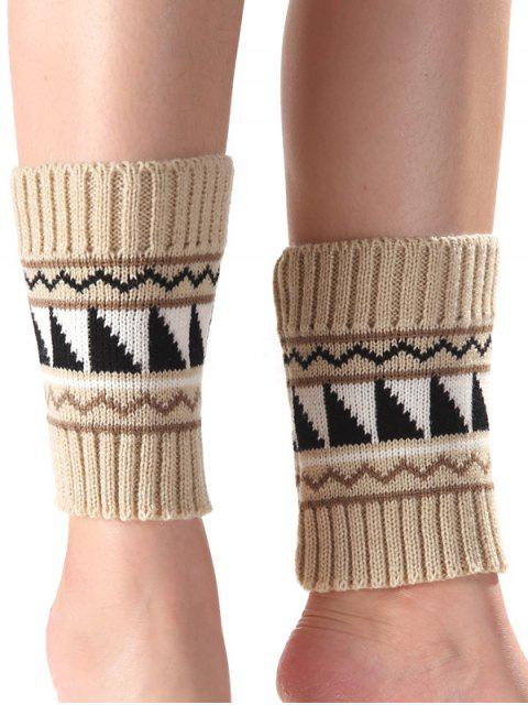 buy Triangle Wavy Pattern Knit Boot Cuffs -   Mobile
