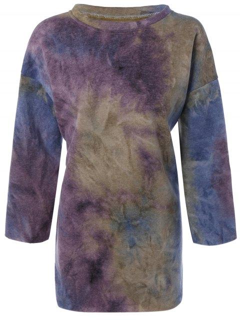 unique Tie-Dyed Sweatshirt - PURPLE L Mobile