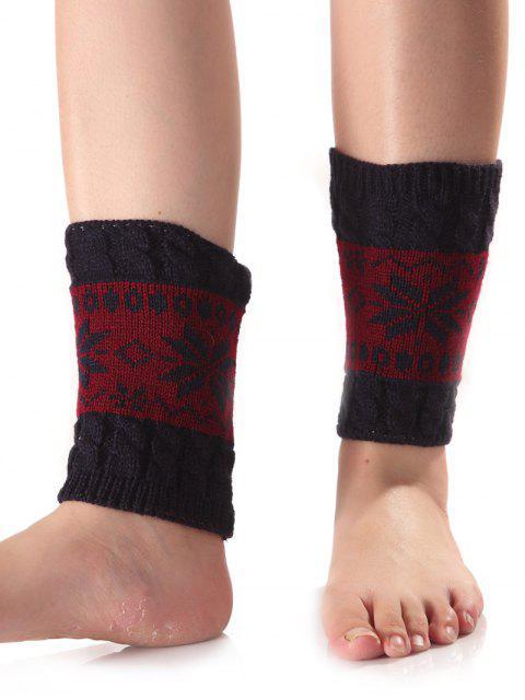 Weihnachtsschneeflo Knit Stiefel Cuffs - Cadetblue  Mobile