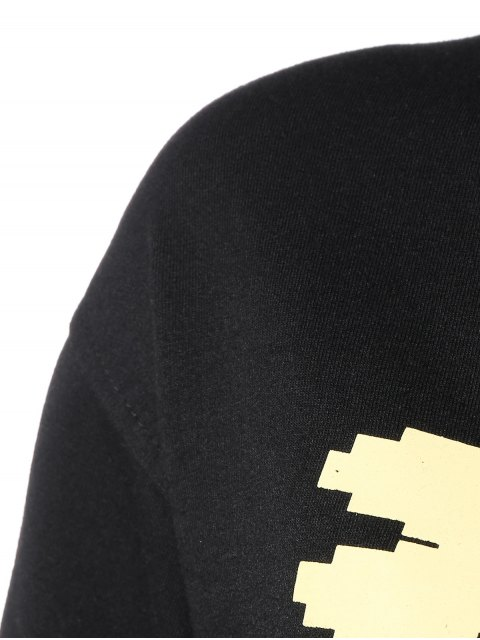 Cartoon Sweatshirt drôle - Noir M Mobile