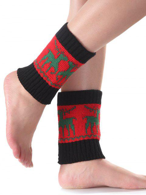 hot Christmas Deer Knit Boot Cuffs -   Mobile
