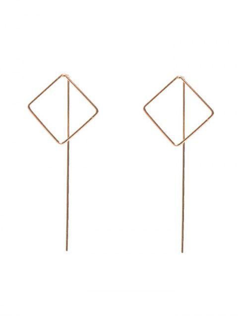 Boucles d'oreilles carrées Évidées - Or  Mobile