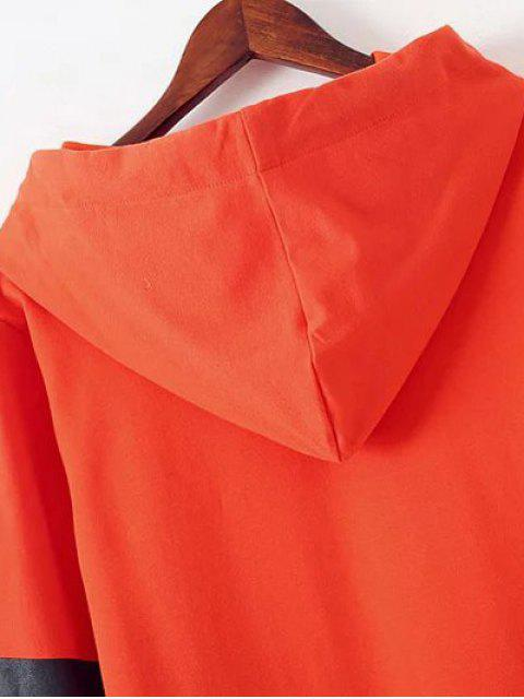 womens Graphic Hoodie Dress - ORANGE RED L Mobile