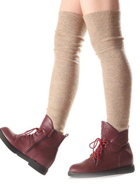 buy Long Knit Leg Warmers - COMPLEXION  Mobile