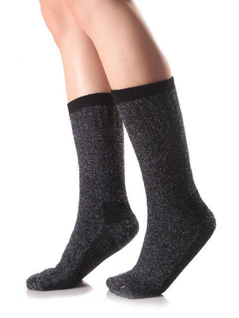 online Candy Edge Knit Socks - BLACK  Mobile