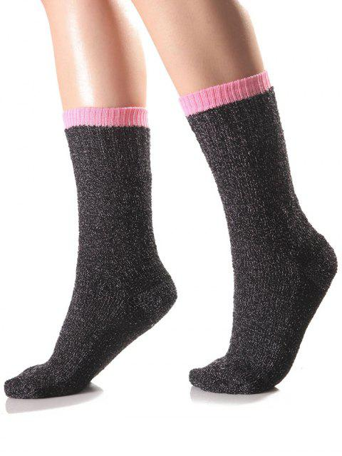 shop Candy Edge Knit Socks - PINK  Mobile