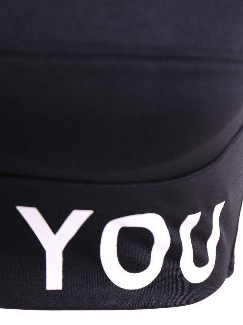 new Slim Criss-Cross Padded Strappy Sports Yoga Bra - BLACK S Mobile