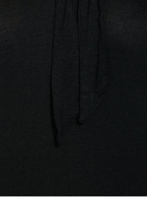 shop Vintage Pussy Bow Blouse - BLACK XL Mobile