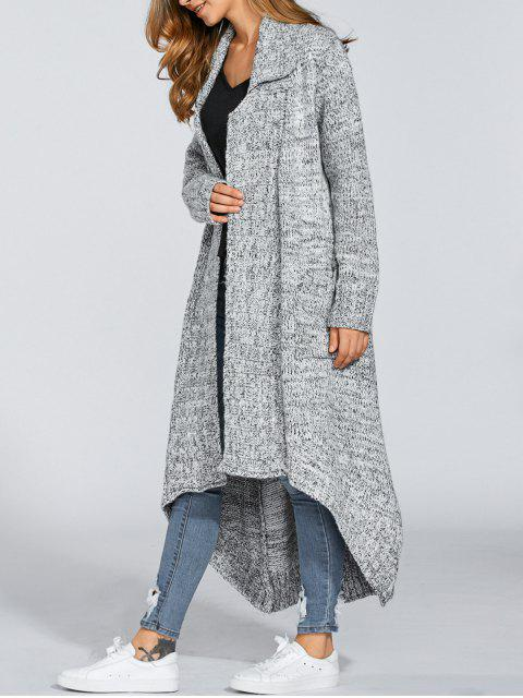 women Open Front Maxi Cardigan - LIGHT GRAY ONE SIZE Mobile