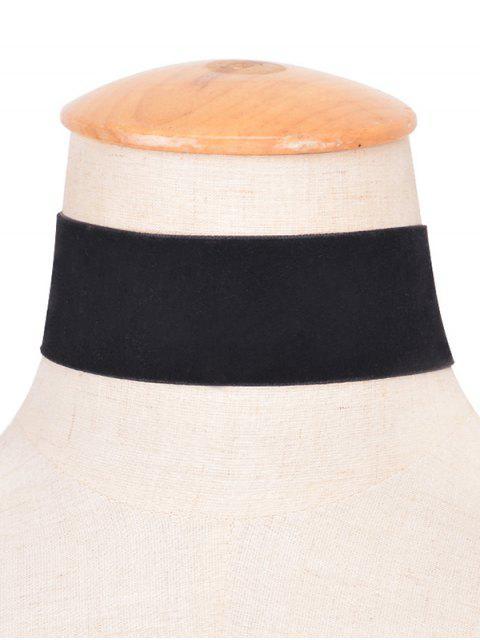 Velvet Large Collier Choker - Noir  Mobile