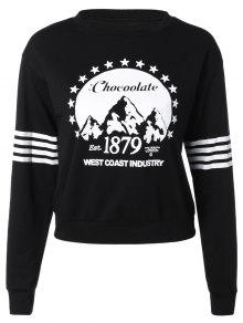 Loose Sports Printed Sweatshirt - Black S