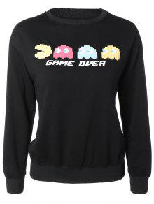 Cartoon Funny Sweatshirt - Black M