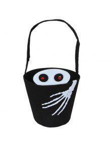 Cubo En Forma De Mano Del Cráneo De Halloween Bolsas - Negro