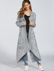 Open Front Maxi Cardigan LIGHT GRAY: Sweaters ONE SIZE | ZAFUL