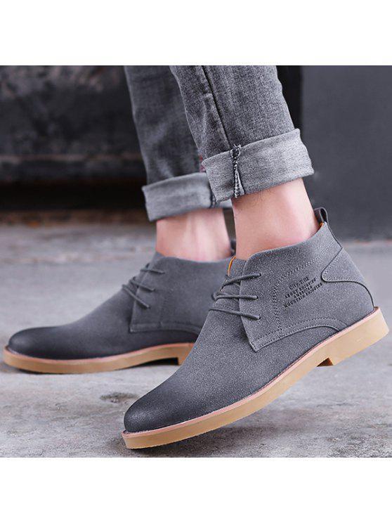 الدانتيل يصل أشار تو أحذية عادية - رمادي 44