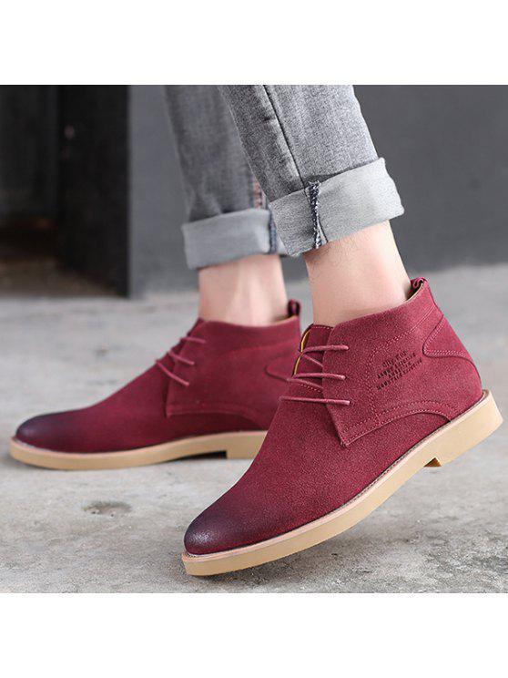 الدانتيل يصل أشار تو أحذية عادية - أحمر 44