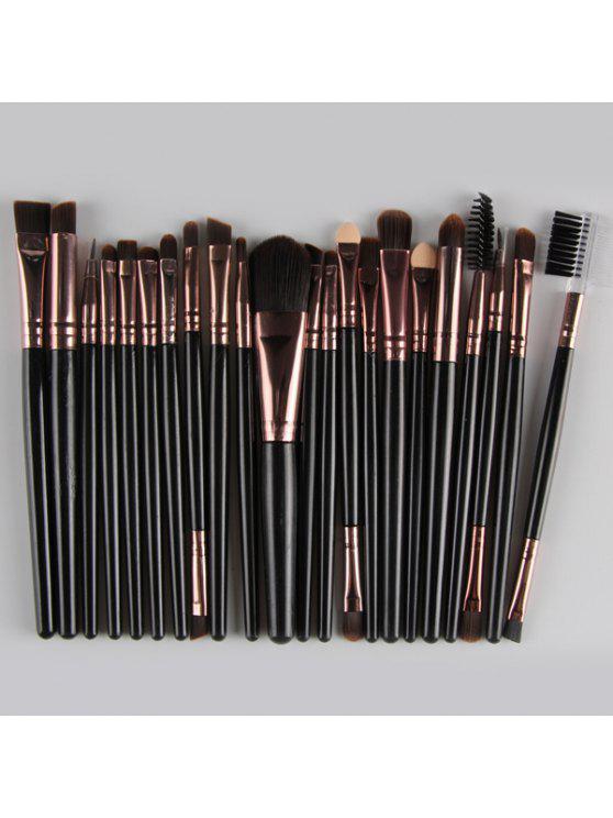22 Pièces Ensemble de Pinceaux à Maquillage en Nylon pour Visage Yeux Lèvres - Noir