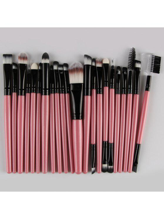 fancy 22 Pcs Nylon Eye Lip Makeup Brushes Set - PINK