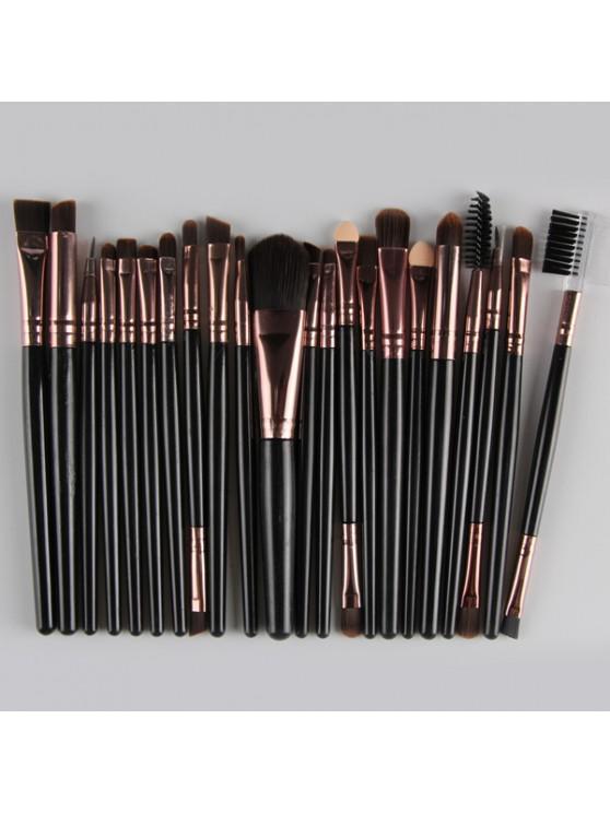 latest 22 Pcs Nylon Eye Lip Makeup Brushes Set - BLACK