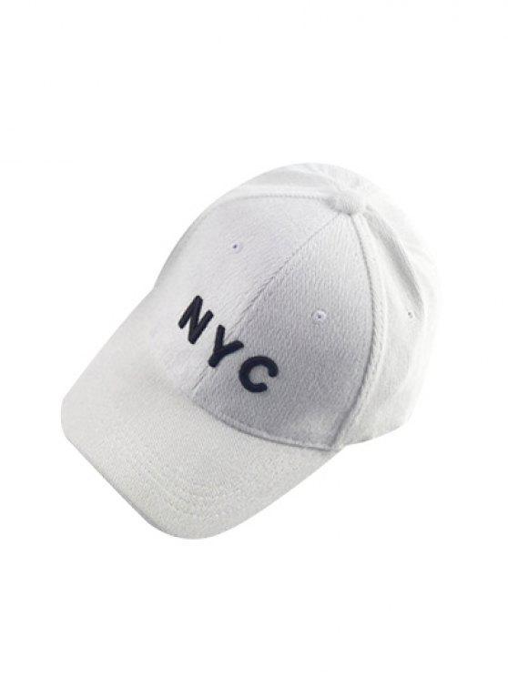 2018 Autumn Nyc Embroidery Corduroy Baseball Hat In White Zaful