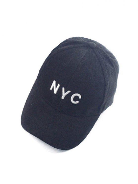Autumn Nyc Embroidery Corduroy Baseball Hat Black Hats Zaful