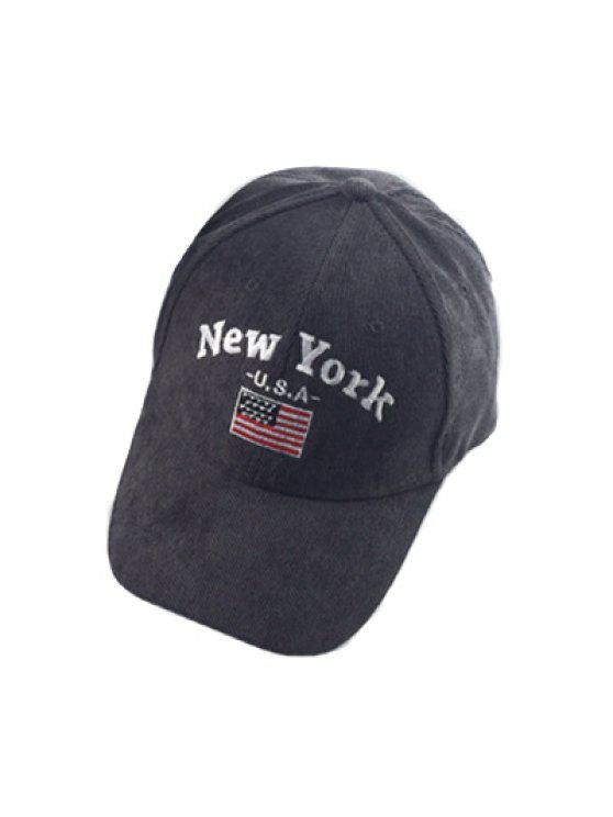 deep crown baseball hats caps chic autumn new york flag embroidery corduroy hat gray high