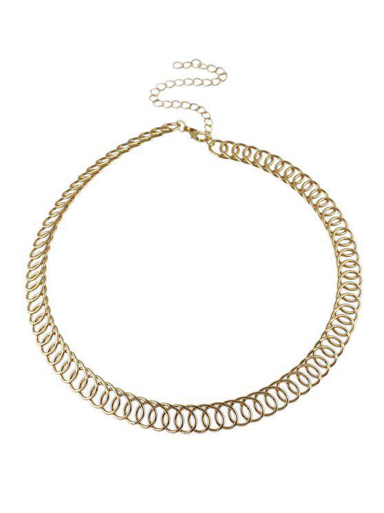 Cadena de la aleación del círculo de Gargantilla - Dorado