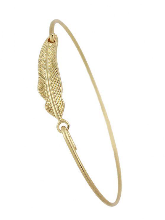 Feather Vintage Adorn Bracelet - Or