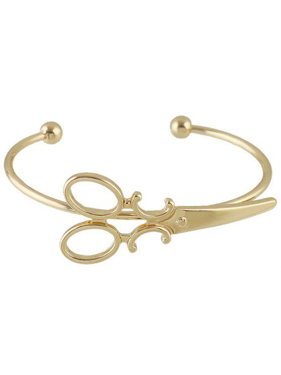 Bracelet embelli ciseaux vintage - Or